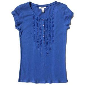 Alfani Intimates soft cotton knit top S blue